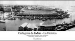 Cartagena de Indias circa 1936 in black and white