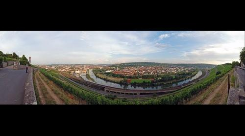 180 degrees view of Wuerzburg