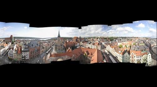 Panorama 360 of Torun from town hall's tower // Panorama 360 Torunia z wieży ratuszowej