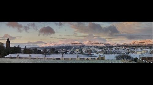 Sligo Town in Snow. ConDoh Photo.