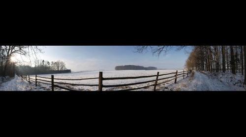 Louka v zime 2