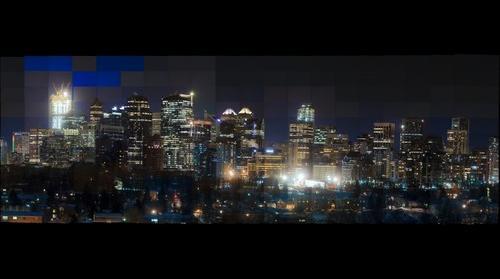 Calgary Alberta at nite