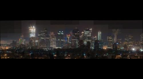 Calgary Alberta nite Crescent heights drive