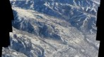 Aerial view of NE Salt lake near the University of Utah during the Dec 5, 2010 inversion event.
