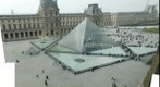 Paris Louvre Courtyard and Pyramids