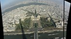 Paris shadow of the eiffel tower