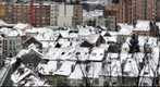 Snow on Brussels roofs