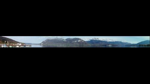 Le lac d'Annecy, rive est