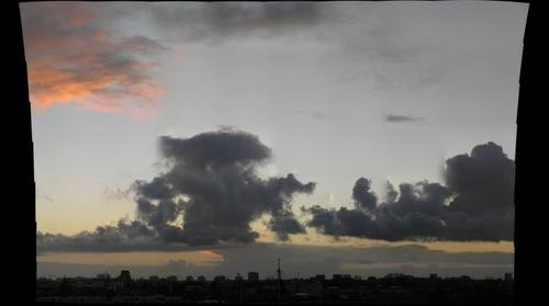 Amsterdam skyline at dusk