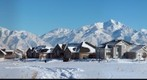 Winter in West Jordan, Utah Sub-division