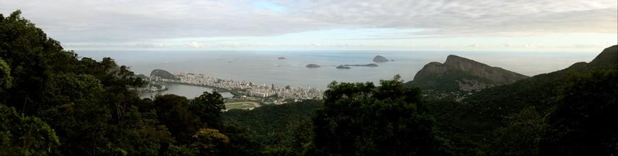 Zona Sul do Rio de Janeiro vista do sumare