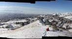 New year&#39;s hill hike