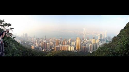 Sai Ying Pun seen from the Peak/Lugard Road, Hong Kong