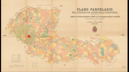 Plano parcelario del término de Jerez de la Frontera, por D. Adolfo López Cepero. Año de 1904. (*Obra derivada)