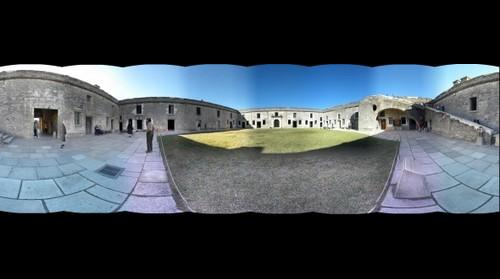 Inside the Castillo de San Marcos