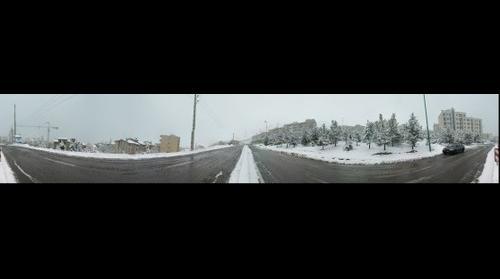 Snow. Bustan St. Tehran
