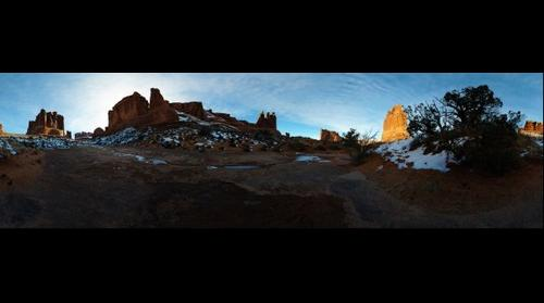 Park Avenue hike in Arches Nat'l Park, UT, USA