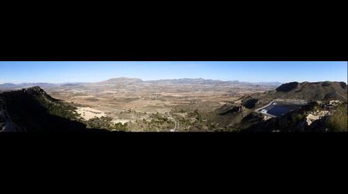 Agost desde la sierra de Orito
