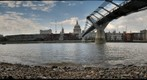 Thames River and Millenium Bridge, London, UK (e3)