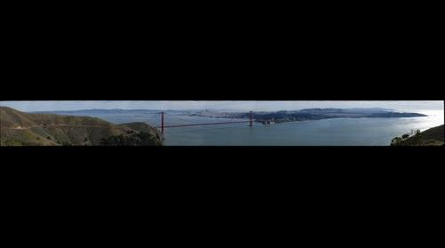Golden Gate Bridge from high, wider and clearer