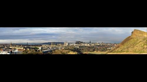 The edinburgh skyline from Holyrood park