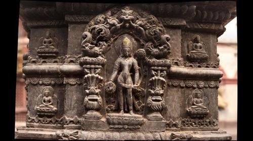 Padmapani Lokeshor Carved in Stone
