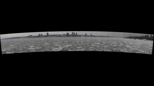 The Frozen Hudson River