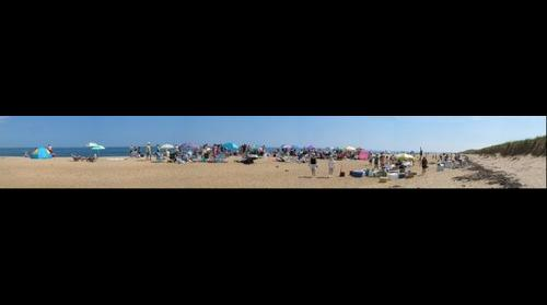 Beach party at Plum Island, Newburyport, MA, USA