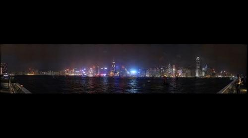 Hong Kong island by night from Kowloon