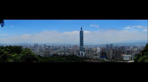 象山涼亭上俯瞰101和台北盆地 (145億7千萬像素)
