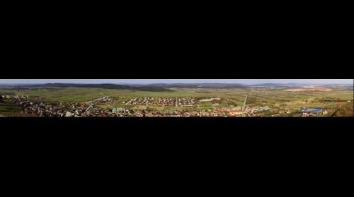 Panorama of Checiny & Kielce seen from Checiny Castle