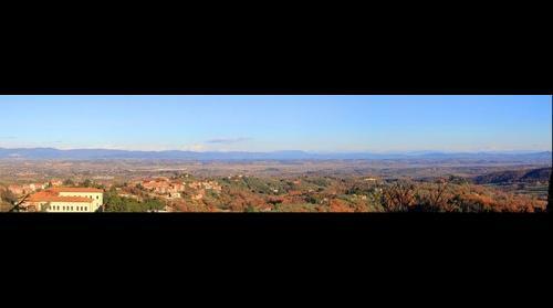 Panorama della Val di Chiana - Vista da Montepulciano ( Siena - Tuscany Italy )