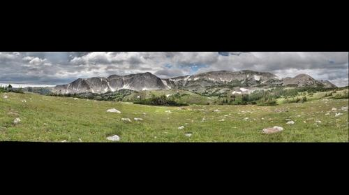 Snowy Range Mountains in Medicine Bow National Forest