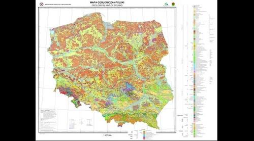 Geological map of Poland