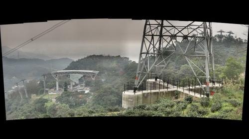 Houshanyue transmission tower (left)