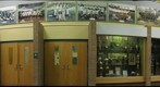 Huntington High Sports Hallway Trophys