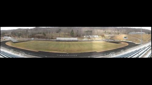 Football field from press box
