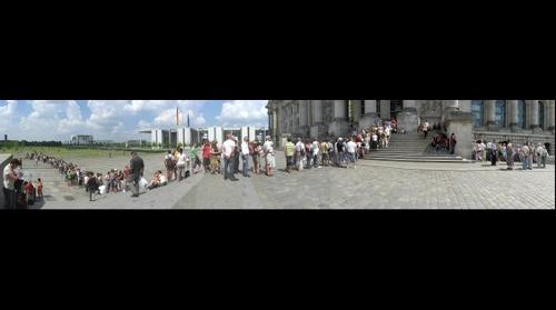 Reichstag Building Entrance Queue, Berlin