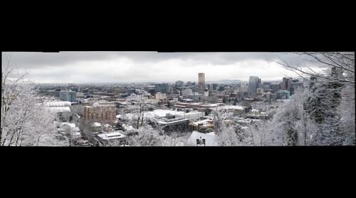 Portland in the Snow 03