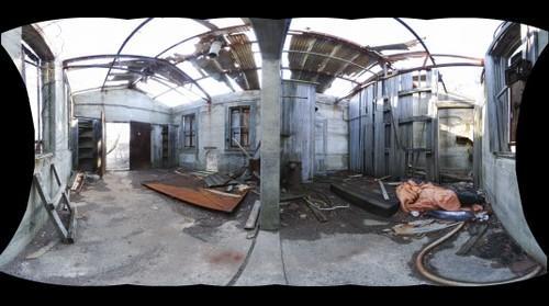 Abandon building near Gunnison Beach , Fort Hancock, Sandy Hook, NJ, USA