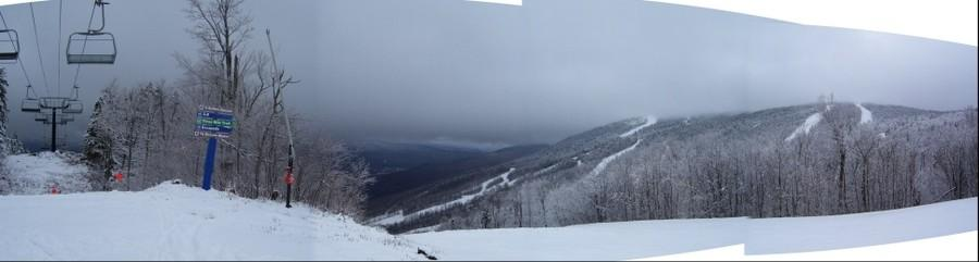 Sunday River on a stormy April ski day