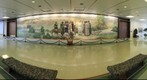 Jesus Mural in Lobby of Mormon Church Headquarters in Salt Lake City, Utah, USA 