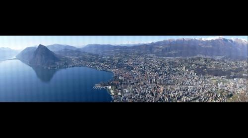 Lugano vista dal monte Bre