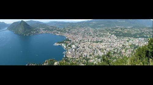 Golfo di Lugano visto dl monte Bre