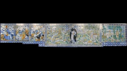 Ceramica atrio de la Basilica del prado lado derecho Talavera de la Reina