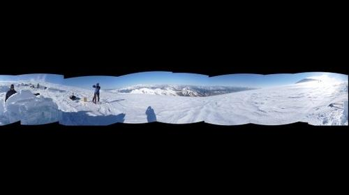 Ice core drilling on the glacier of the Ortles summit (3900m, Esatern Alps, Italy)