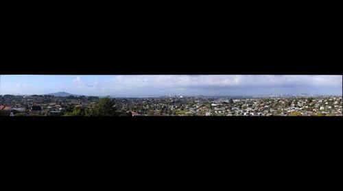 Auckland City ,North Shore Urban,Rangitoto island across south to mt wellington