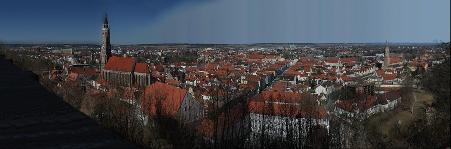 Landshut (Bavaria, Germany) seen from the Burgschanzl    v1.3