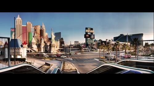 Las Vegas strip from the Excalibur Casino