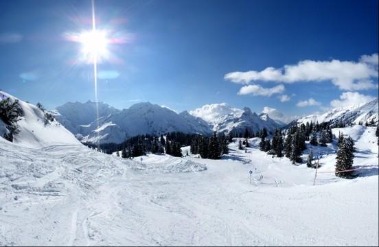 Ski run to Koerbersee